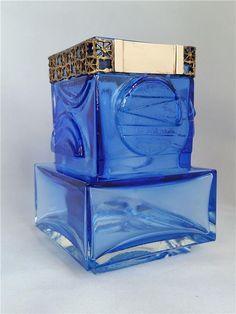 Vacker blå vas glas o brons Pentti Sarpaneva Kumela Finland