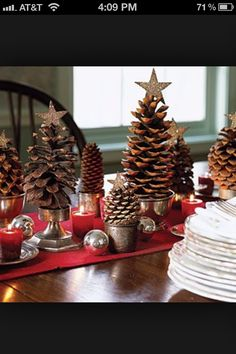 easy center piece ideas to Christmas