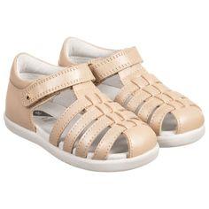 Bobux IWalk - Gold 'Jump' Sandals | Childrensalon
