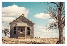 Neff abandoned one-room schoolhouse in rural NE Nebraska.