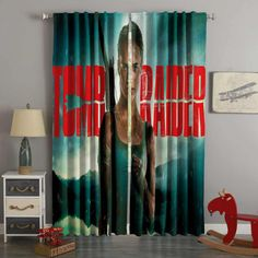 3D Printed Tomb Raider Style Custom Living Room Curtains – Westbedding