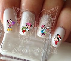 Christmas Nail Art Minnie Mouse Nail Water Decals Transfers
