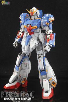 PG Zeta Gundam - Customized Build Modeled by Jon-K Zeta Gundam, Gundam Model, Transformers, To Go, Cartoon, Manga, Guys, Robots, Models