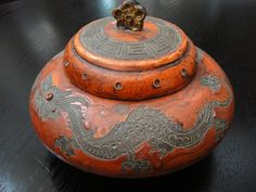 18thC Chinese Red Cinnabar Lacquer Jar
