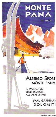vintage ski poster - Monte Pana