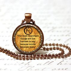 The Dark Tower Quote Pendants set in by DiPillasCraftsCorner