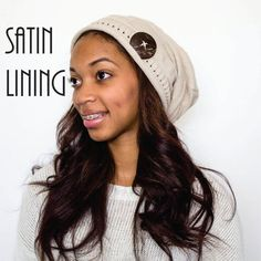Satin Lined Beanie with Button Embellishment 8caf5e6d76cb
