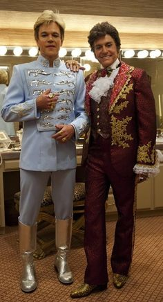 Matt Damon and Michael Douglas in 'Behind the Candelabra' (2013). Costume Designer: Ellen Mirojnick.