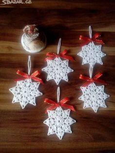Сhristmas snowflakes crochet snowflakes set of 6 Xmas di NLovely Christmas tree decoration with eight different patterns.Tatting Lace Christmas garland white snowflakes - wedding decor - home decor - new vintage - viktorian - home decor - boho chick Crochet Snowflake Pattern, Christmas Crochet Patterns, Crochet Snowflakes, Christmas Snowflakes, Christmas Angels, Christmas Tree Ornaments, Ornament Tree, Crochet Christmas Decorations, Crochet Ornaments