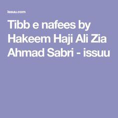 Tibb e nafees by Hakeem Haji Ali Zia Ahmad Sabri - issuu