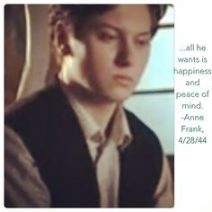 All Peter wants is happiness and peace of mind. Anne Frank Quotes, Peace Of Mind, Happiness, Bonheur, Being Happy, Happy