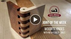 Making Wooden Hinges with NO Specialty Tools - Joint of the Week Making Wooden Hinges with NO Specialty Tools - Joint of the Week Unique Woodworking, Woodworking Projects That Sell, Woodworking Joints, Woodworking Skills, Woodworking Techniques, Diy Wood Projects, Wooden Hinges, Box Hinges, Wood Box Design