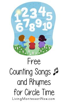 Free counting songs to 5, 10, 20, 30, 50, and 100 for any season for teachers, caregivers, and parents; YouTube videos plus songs and fingerplays with lyrics - Living Montessori Now Counting Songs For Kids, Counting Rhymes, Math For Kids, Kids Songs, Hands On Activities, Math Activities, Math Sites, Kindergarten Music, Learning Stations
