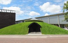 Yourtopia is a domed grass pavilion hidden between Rotterdam's streets. Created as a mysterious, hidden getaway to escape the city the space underneath offers visitors a chance to relax and retreat.