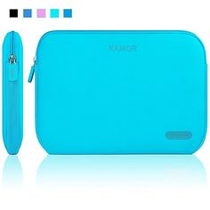Kamor 15 15.6 16 17 inch Water-resistant Neoprene Laptop Sleeve Case Bag/ Notebook Computer Case / Briefcase Carrying Bag / Ultrabook Laptop Tablet Bag Case / Pouch Cover / Skin Cover with 5.5mm thickness for Acer / Asus / Dell / Fujitsu / Lenovo / HP / Samsung / Sony / Toshiba (Lake Blue)