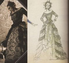 fymoviecostumes:  Costume/Sketch  My husband and I are thinking about being Sweeney Todd and Mrs. Lovett for Halloween this year.