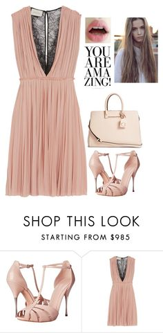 """Lace Dress"" by vale14m ❤ liked on Polyvore featuring moda, Alexander McQueen, Gucci, GUESS e lacedress"