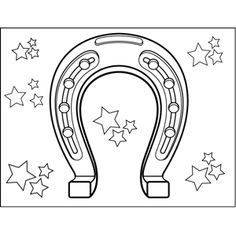 Printable horseshoe coloring page Free PDF download at