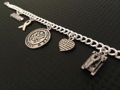 Army Sterling Silver Charm Bracelet Soldier West by FrostedHope, $95.00