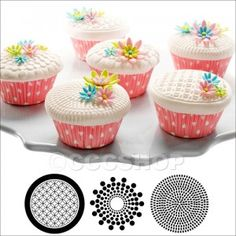 Geometric Cupcake and Cookie Texture Tops