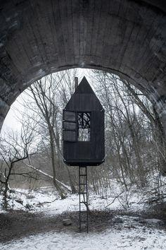 Black Flying House