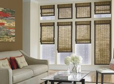 Blinds that Lower From the top . Blinds that Lower From the top . Motorized Blinds and Shades House Windows, Blinds For Windows, Springs Window Fashions, Woven Wood Shades, Bamboo Shades, Square Windows, Custom Blinds, New York City Apartment, Wood Blinds