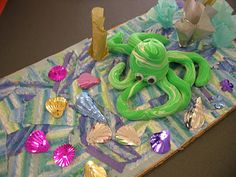 Third graders each made a clay octopus and underwater scene with Ms. Wanamaker after reading Tickly Octopus by Ruth Galloway.  They loved this project!