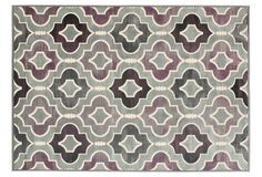 One Kings Lane - Graphic, Clean Style - Kalista Rug, Gray/Purple