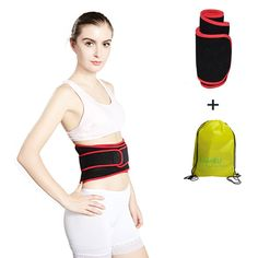 """Waist Trimmer Ab Belt Trainer for Men and Women with a Backpack - Adjustable Lower Back Lumbar Support Straps - Breathable Sweat Belt for Faster Weight Loss (Red+Black Size: M). 【Two Sizes for Option】☞ M: 40""""L*7""""W- Recommended for waists up to 35""""; L: 45""""L*8""""W - Recommended for waists up to 40"""". 【100% Latex Free Neoprene】☞ Made of premium neoprene and nylon material for durability, adjustable, stretchable and anti-slip straps, comfortably fit around your waist, experience sweet high..."""