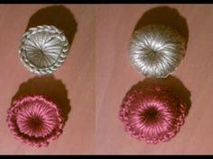 Como hacer botones a a ganchillo o crochet