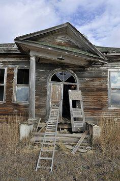Abandoned school house, Gascoyne, North Dakota