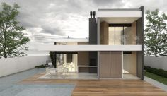 Térreo Arquitetos - CASA UNIFAMILIAR L15 Garage Doors, Outdoor Decor, Home Decor, Architects, Houses, Interior Design, Home Interior Design, Home Decoration, Decoration Home