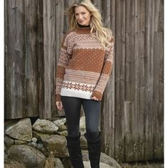 Setesdal-genser - Viking of Norway Knitting Patterns, Knitting Ideas, Color Combinations, Vikings, Turtle Neck, Pullover, Crochet, Sweaters, Norway