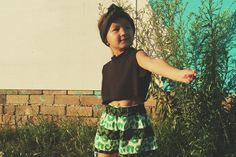 Image of Lime leopard shorties