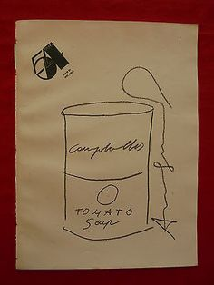 Andy Warhol Soup Can Sketch Andy Warhol Drawings, Andy Warhol Art, Andy Warhol Soup Cans, Poetry, Sketch, The Originals, Music, Books, Photography