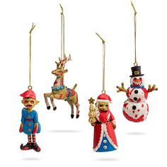 ThinkGeek Zombie Ornament Set | ThinkGeek