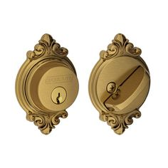 Schlage B Decorative Brookshire Collections Antique Brass Single-Cylinder Deadbolt B60 609 Brk
