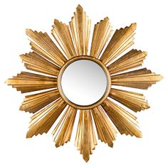 One Kings Lane - Radiant Flare - Golden Petal Mirror