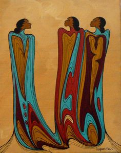 Friends - Contemporary Canadian Native, Inuit & Aboriginal Art - Bearclaw Gallery