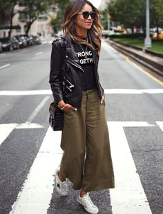Wanted : une jupe culotte kaki 7/8 (photo Sincerely Jules)