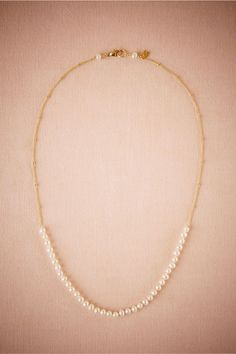 Love this! Would be so beautiful to wear on my special day. BHLDN Perla Necklace in  New at BHLDN