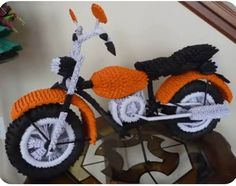 3D origami motorcycle