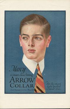 The 'Marcy' Arrow Collar Illustration Mode, American Illustration, Vintage Ads, Vintage Posters, Jc Leyendecker, Pin Up, Illustrators, Joseph, Christian