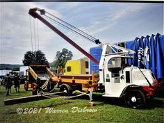 Unusual roof anchored boom on a Mack chassis. Antique Trucks, Vehicles, Car, Vehicle, Tools