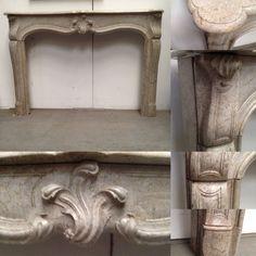 cheminée louis XV en marbre des pyrénees , elégament sculpté . XVIII siècle .