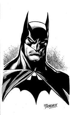 Batman sketch art by Tom Derenick Comic Book Characters, Comic Books Art, Comic Art, Nightwing, Batgirl, Héros Dc Comics, Comic Style, Im Batman, Batman Mask