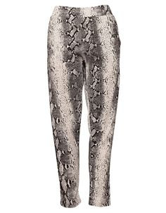 Reptile Print Cigarette Trousers in White £ 9.95 http://www.chiarafashion.co.uk/reptile-print-cigarette-trousers-in-white.html #reptile #snake #print #cigarette #trousers #loose #fit