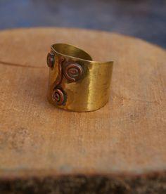 Rame e ottone anello fatto a mano anello regolabile di ShockedShop