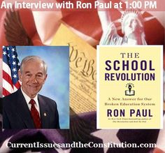 Live Interview with Ron Paul on Homeschooling -- Wednesday December 4
