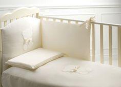 cameretta Perla noce antico con lettino Bijoux #baby #crib #cot
